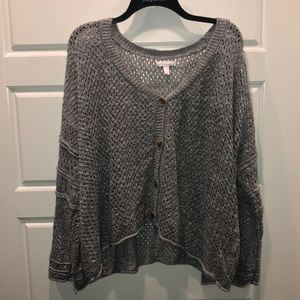 Lauren Conrad Grey Cardigan/Sweater